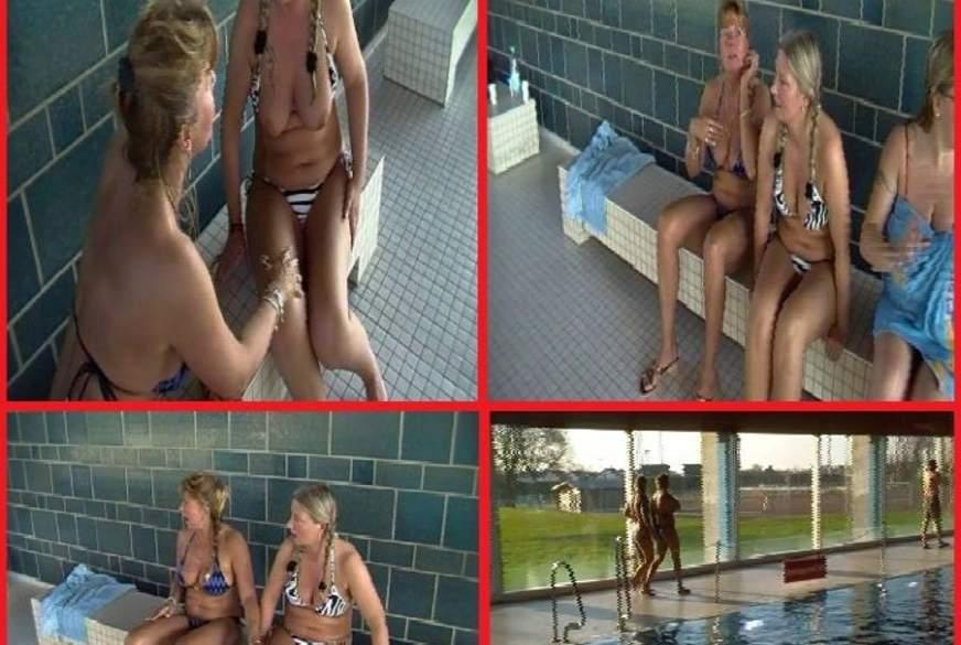 Public im Schwimmbad nächsten S*****z a********n!