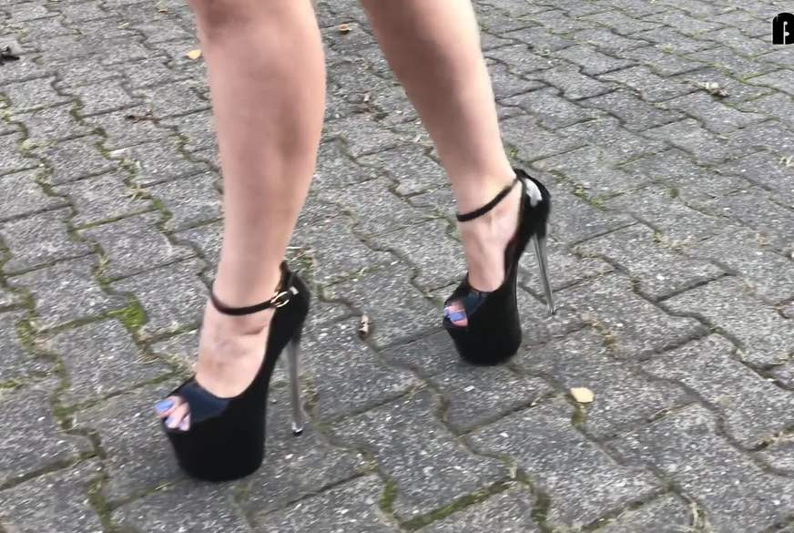 sexy walking in killer heels