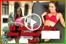 23 Jahre alte Akira ohne Kondom g*****t Teil 2
