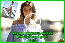 Magaluf Urlauberin Candice am Malle Strand g*****t Teil 2