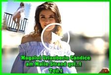 Magaluf Urlauberin Candice am Malle Strand g*****t Teil 1