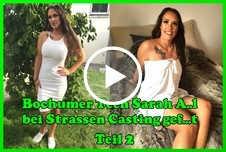 Bochumer T**n Sarah A**l bei Strassen Casting g*****t Teil 2