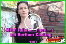 MILF Julia A**l g*****t bei Berliner Casting Teil 1