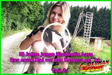 18 Jahre j***e Studentin Lara das erste Mal vor der Kamera g*****t Teil 2