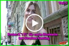 Erster Anal Fick für zarte Studentin bei Straßen Casting Teil 1