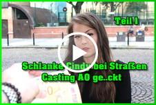 Schlanke Cindy bei Straßen Casting AO gefickt Teil 1