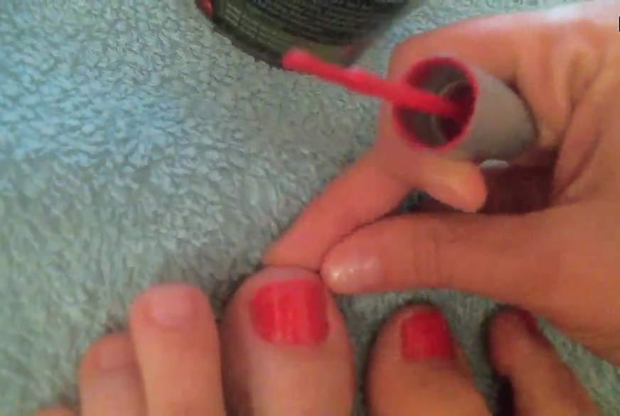Nägel lackiert für dich